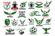 Sport soccer and football icons