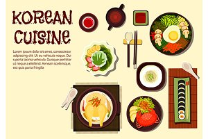 Korean cuisine menu dishes