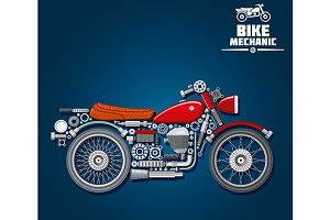 Motorcycle mechanics scheme