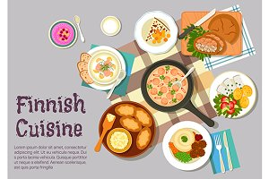 Finnish cuisine menu dishes