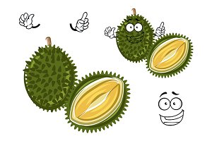 Cartoon durian fruit