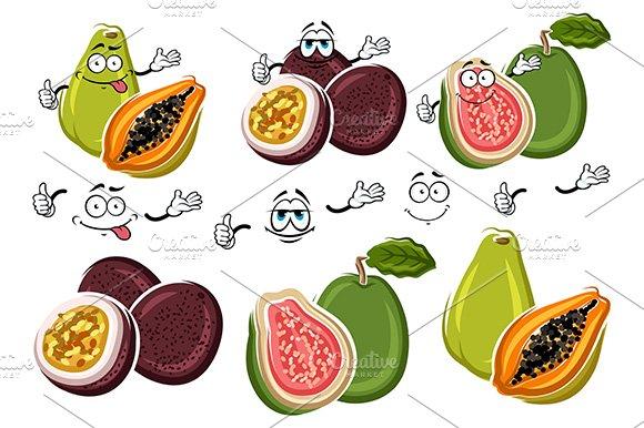 Passion fruit, guava and papaya