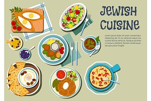 Jewish cuisine menu