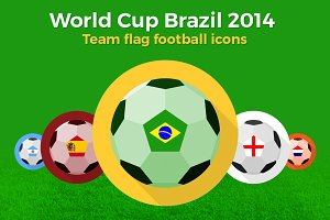 World Cup - Team flag footballs