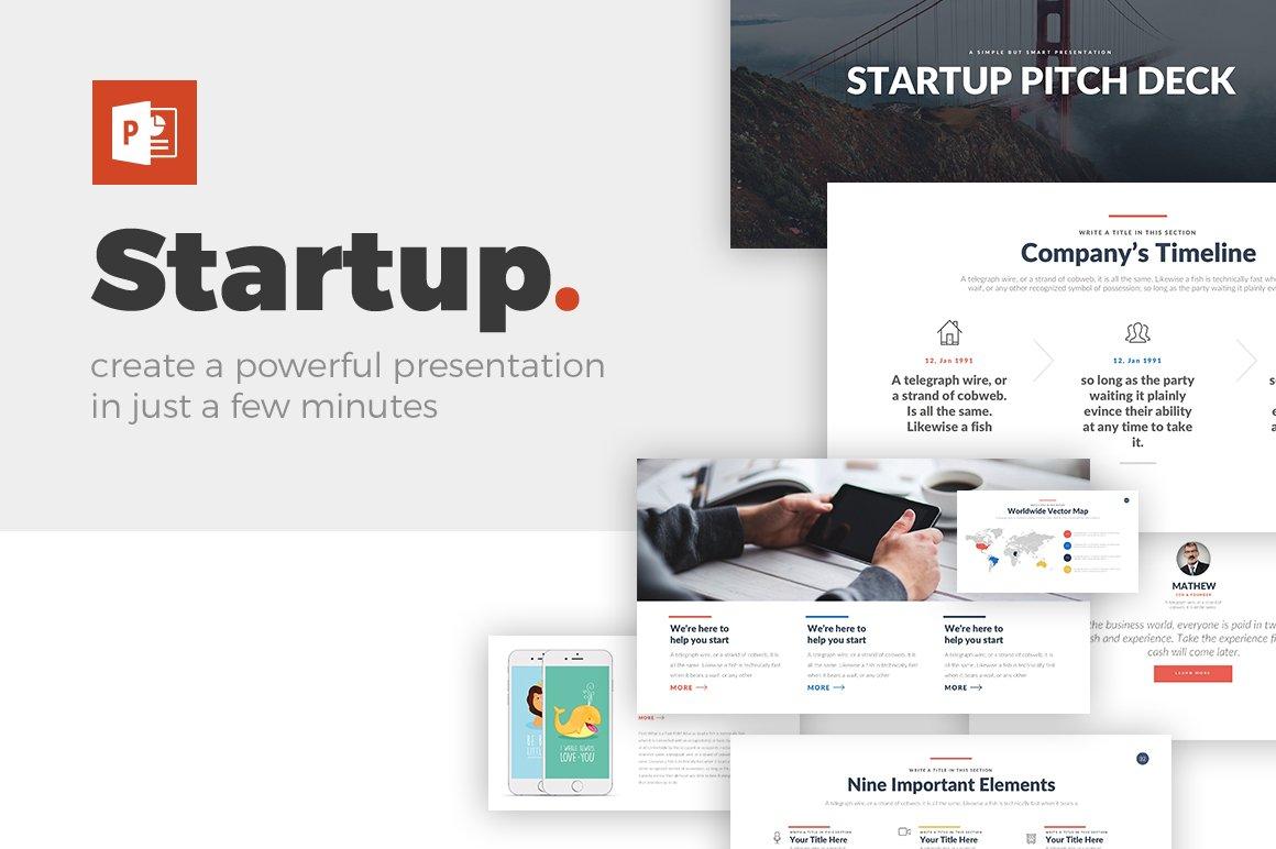 Startup powerpoint template presentation templates creative market toneelgroepblik Gallery