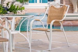 chairs with to swimming pool