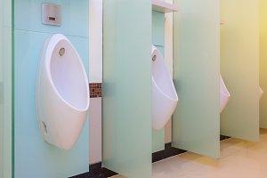 Urinals Men public toilet room