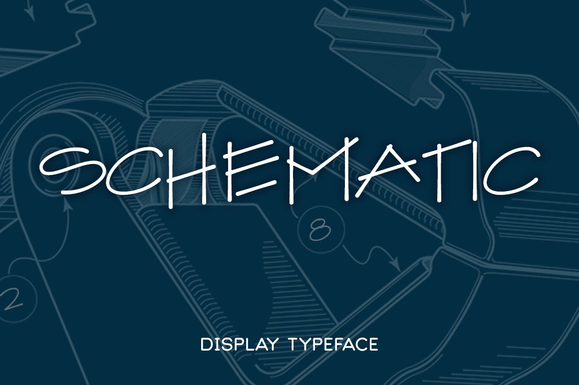 Schematic display fonts creative market malvernweather Image collections
