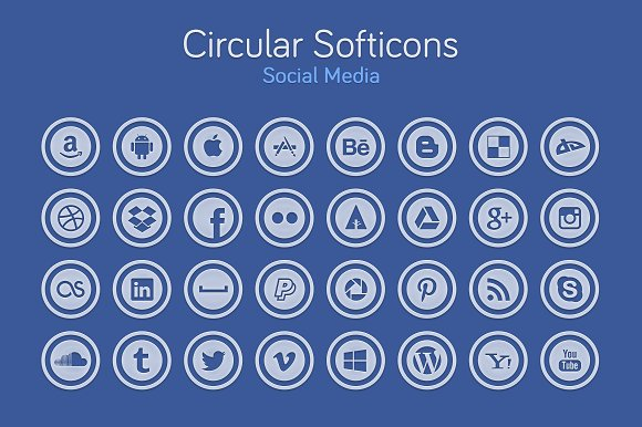 Circular Softicons - Social Media