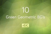 4K Green Geometric Backgrounds