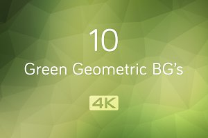 4K Green Geometric Backgrounds