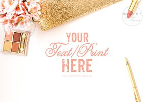 Blush Pink Gold Feminine Desktop