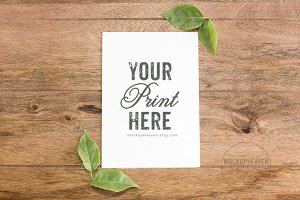 Set of 4 Rustic Card Mockups