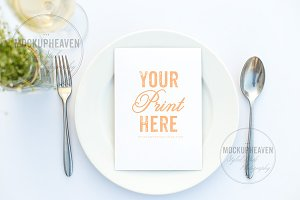 Set of 2 Menu Mockup, Wedding Mockup