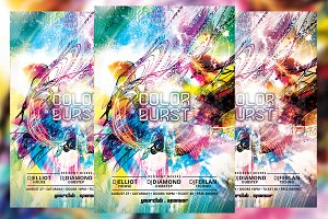 Color Burst Flyer