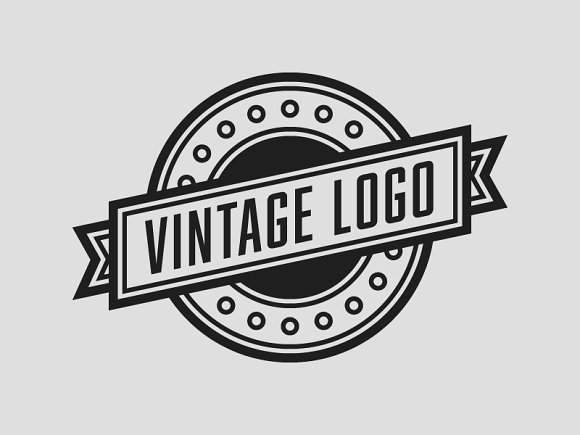 The Vintage Logo Template PSD Templates Creative Market