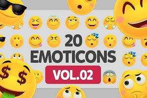 20 Friendly Vector Emoticons VOL. 2