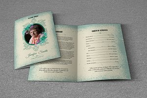 Funeral Program Template-T548