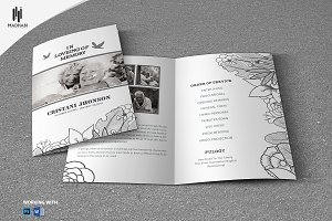 Black & White Style Funeral Template