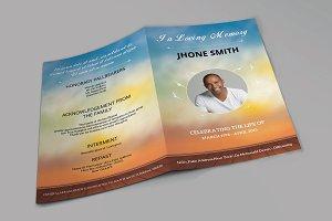 Funeral Program Template-V549