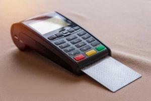 Credit Card on POS terminal in store