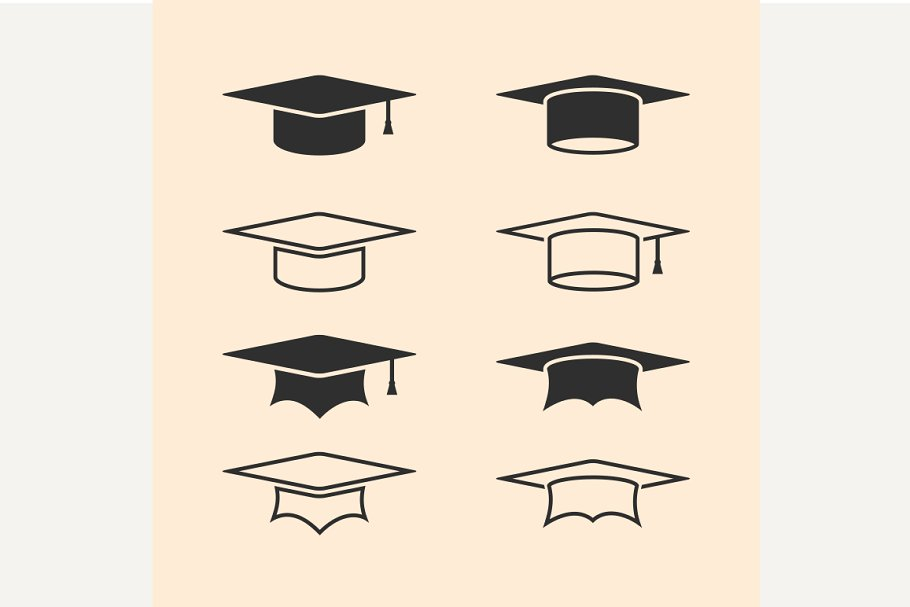 Graduation cap logos
