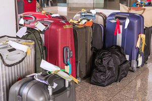 suitcases rucksacks and travel bag