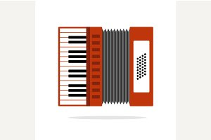 Real Accordion flat icon