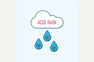Acid rain and radioactive cloud