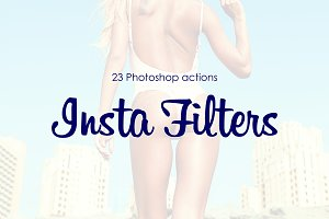 "Photoshop Actions ""23 InstaFilters"""