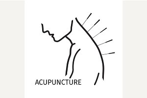 Human acupuncture with needles