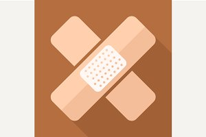 Adhesive plaster vector icon