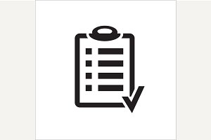 Action plan clipboard icon