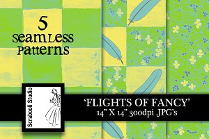 Seamless Pattern - Flights of Fancy