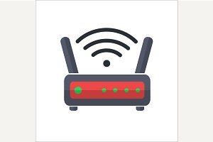Wi fi wireless router web icon