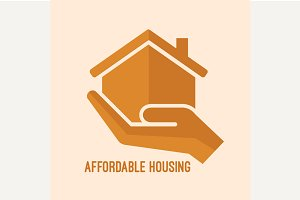 Affordable housing icon.