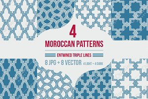 4 MOROCCAN PATTERNS