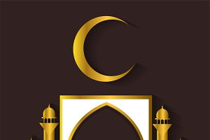 Ramadan Kareem background gold