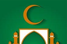 Ramadan Kareem background green