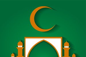 Ramadan Kareem background green