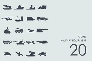 Military equipment icons
