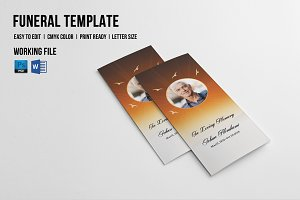 Trifold Funeral Template-V550