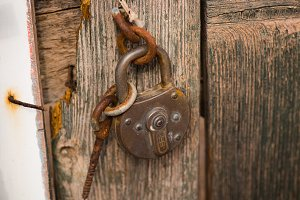 Old Door and Old Lock
