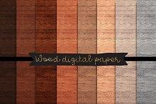 Wood digital paper Wood textures