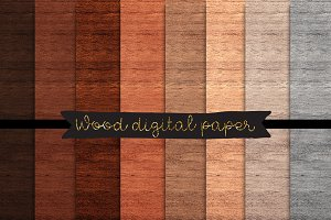 Wood digital paper Wood textures