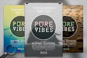 Pure Vibes | 3in1 Flyer Template