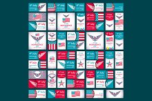 USA Independence Day set vector