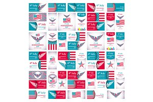 usa ndependence Day set vector