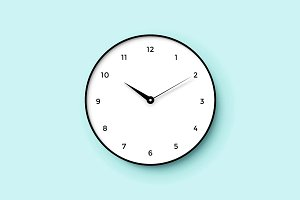 Icon of white clock face