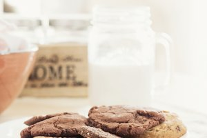 Homemade choco / wheat cookies